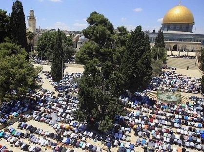 Mescid-i Aksa'da ramazan ayının ilk cuma namazı