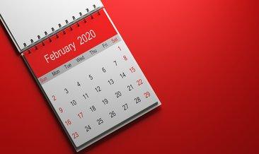 Şubat ayı kaç gün? Şubat 2020 kaç çekiyor?