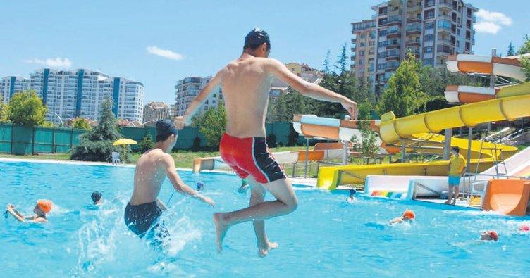 Keçiören havuzları dolup taşıyor