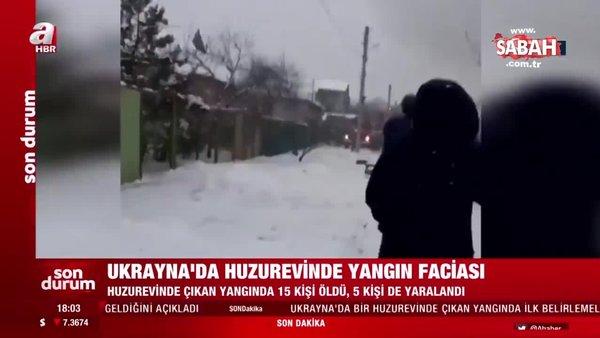 SON DAKİKA HABERİ: Ukrayna'da huzurevinde yangın çıktı! 15 kişi hayatını kaybetti | Video