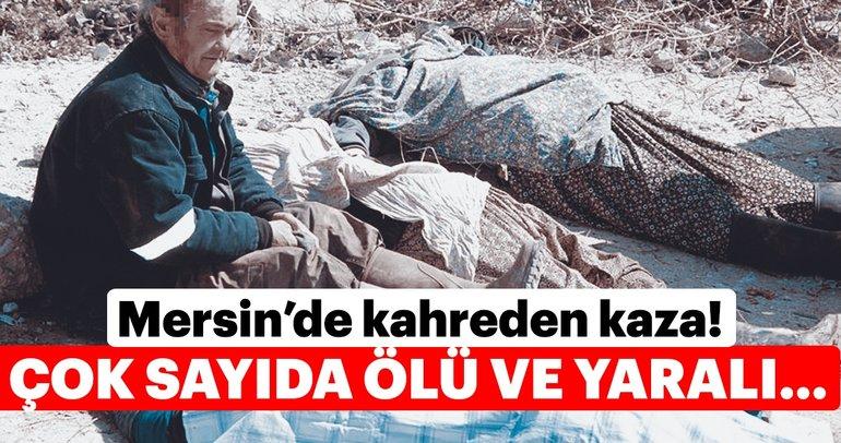 Son dakika: Mersin'in Silifke ilçesinde tarım işçilerini taşıyan minibüs devrildi! Ölüler var...
