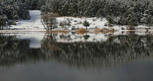 Simav'a mevsimin ilk karı yağdı