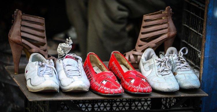İkinci el ayakkabı kazanç kapısı oldu