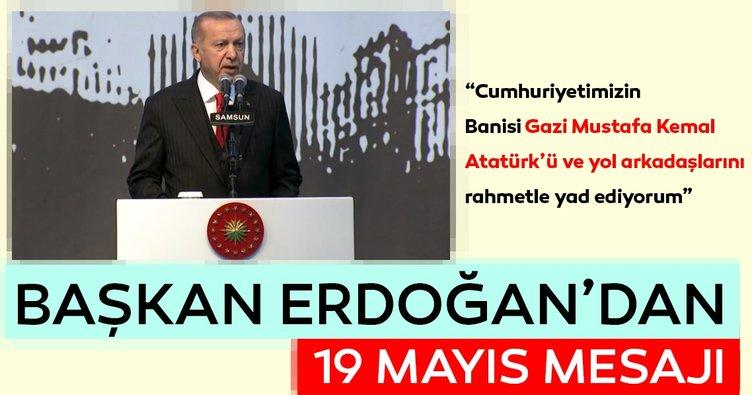 Başkan Erdoğan Samsun'da açıklamalarda bulundu