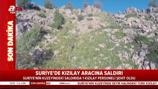 Son dakika haberi: Suriye'nin kuzeyinde TürkKızılayaracına kalleş saldırı! 1 yaralı 1 şehit   Video