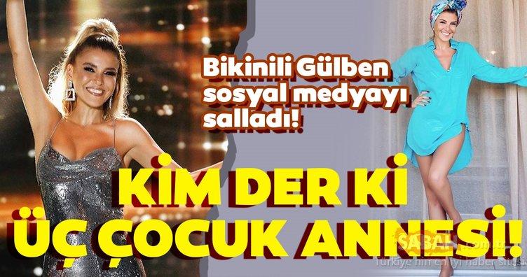 Bikinili Gülben Ergen sosyal medyayı salladı! 47 yaşındaki Gülben Ergen fit vücuduyla tam not aldı!