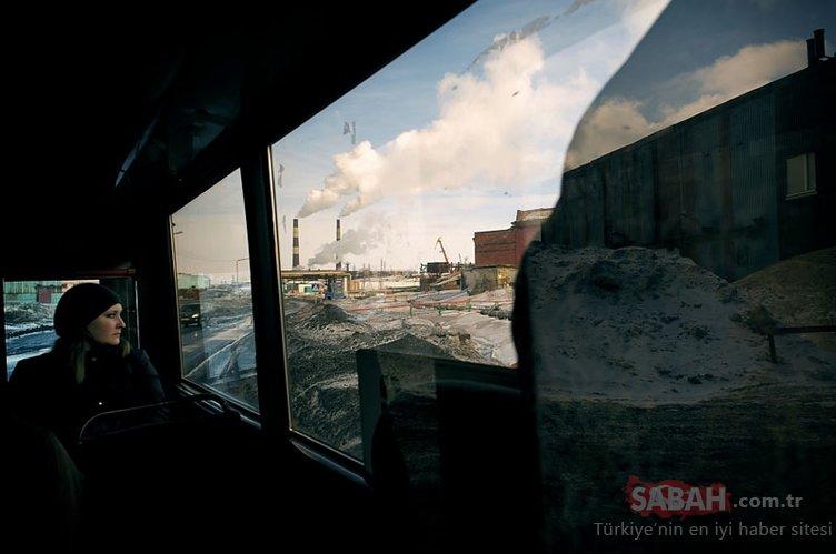 Rusya'nın buz kenti Norilsk! Burada yaşamak çok zor