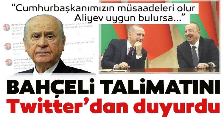 MHP lideri Bahçeli talimatını Twitter'dan duyurdu