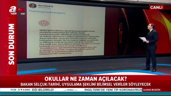 Milli Eğitim Bakanı Ziya Selçuk'tan flaş açıklama! Okullar ...