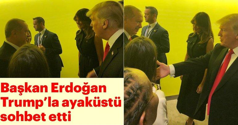Başkan Erdoğan BM Genel Kurulu'nda Trump ile ayaküstü görüştü