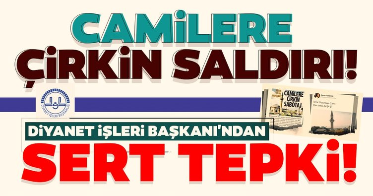 Son dakika! Diyanet İşleri Başkanı Ali Erbaş'tan cami hoparlöründen müzik yayını yapılmasına sert tepki!