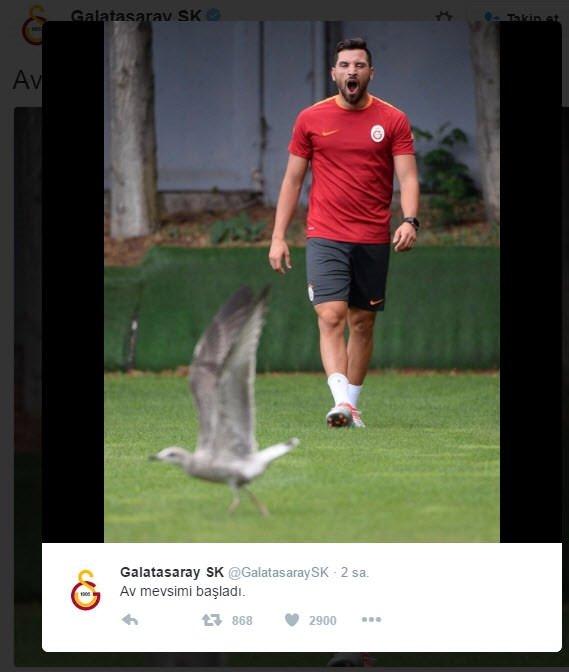 Galatasaray'ın tweetleri güne damga vurdu