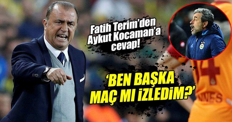 Fatih Terim'den Aykut Kocaman'a derbi cevabı!