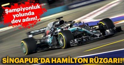 Formula 1 Singapur GP'sinde zafer Lewis Hamilton'ın