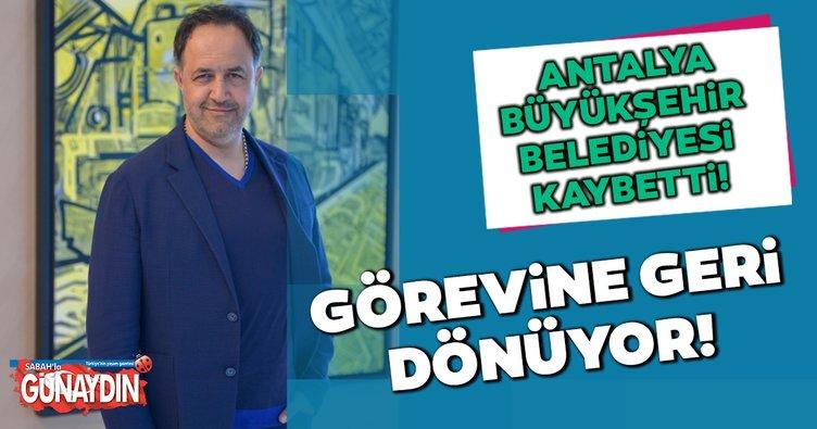 Mobbing yapan Antalya Büyükşehir Belediyesi kaybetti: Davayı kazandı görevine dönüyor
