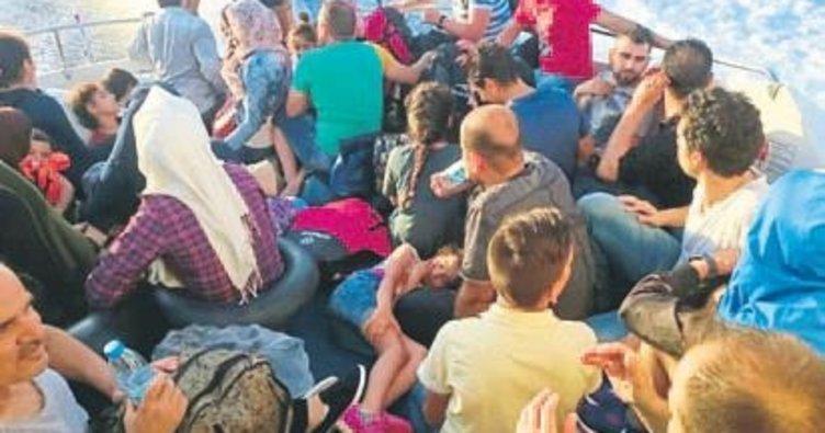 Kaş'ta, Suriyeli 33 kaçak yakalandı