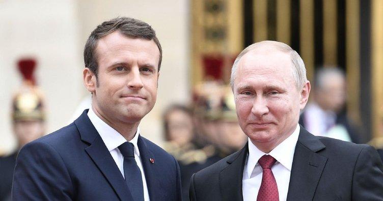 Putin, Macron ile İran ve Suriye meselelerini görüştü