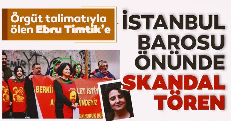 Ebru Timtik'e 'İstanbul Barosu' önünde anma!