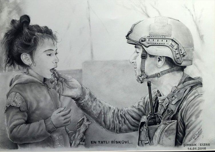 Mehmetçiğin Gözüyle Mehmetçik sergisi.