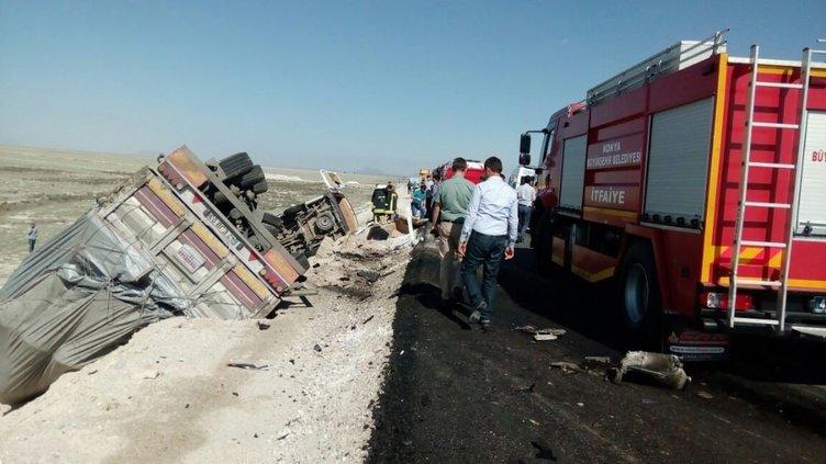 Konya ve Ankara'da feci kaza: Çok sayıda ölü ve yaralı var!