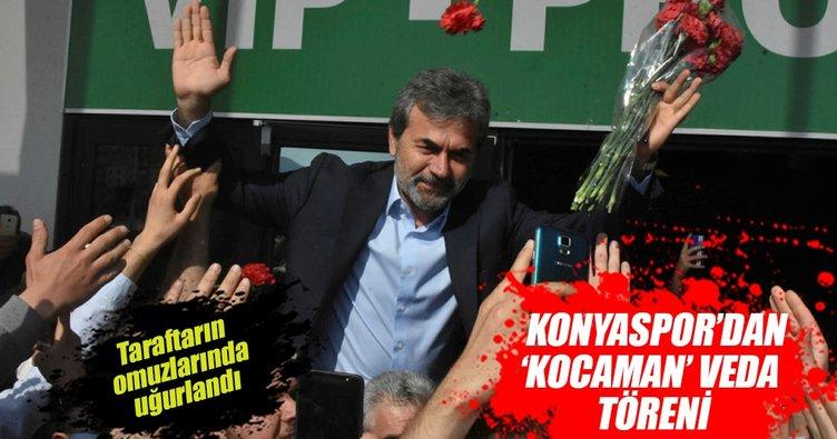 Aykut Kocaman'a, Konyaspor'dan 'Kocaman Veda Töreni'