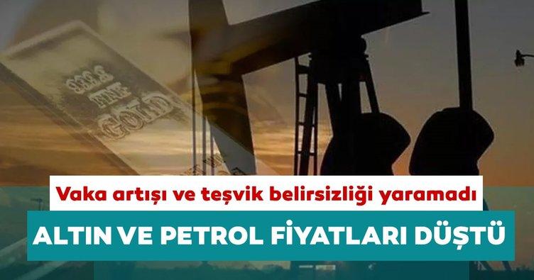 Gündem vaka artışı ve teşvik paketi: Altın ve petrol fiyatları geriledi