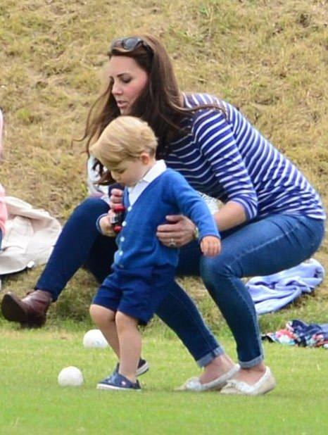 Prens George polo maçında