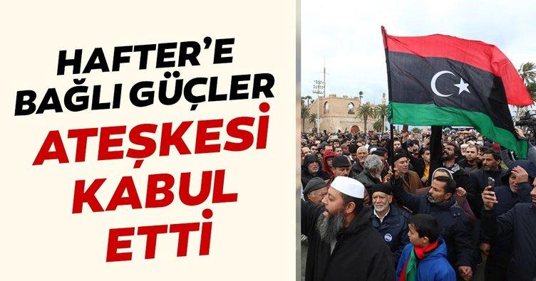 Son dakika: Libya'da Hafter ateşkesi kabul etti