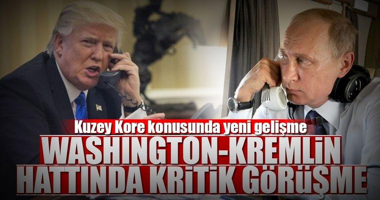 Trump ve Putin, Kuzey Kore krizini görüştü