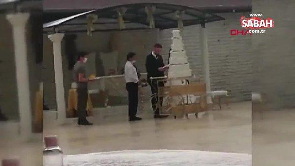 Bursa'da karantinayı ihlal ederek düğün salonunda çalışan kişiye 1 yıla kadar hapis istemi | Video