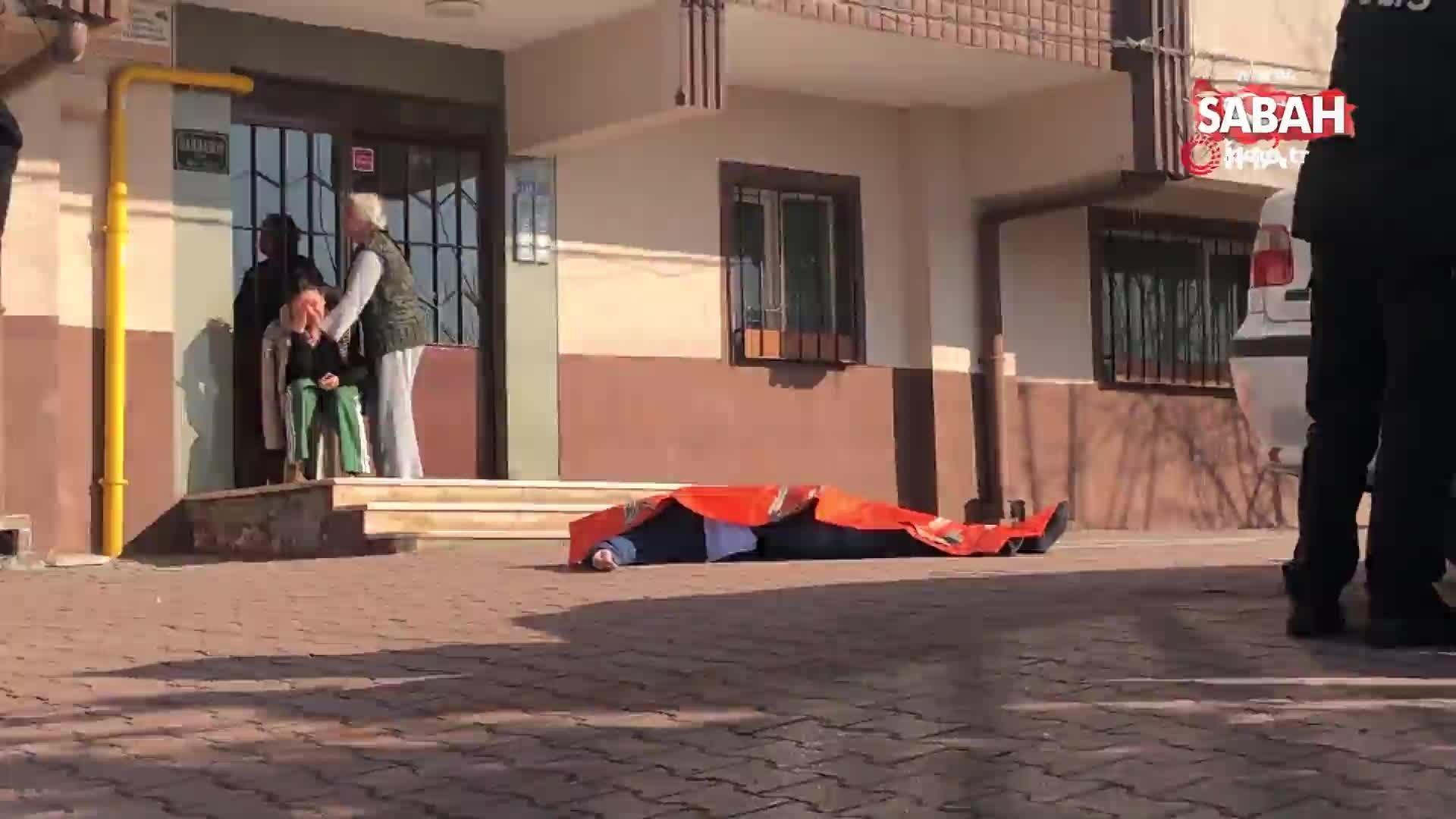 Kocaeli'nin İzmit ilçesinde 7  kattan atlayarak intihar eden şahsın  karısının feryatları yürek burktu
