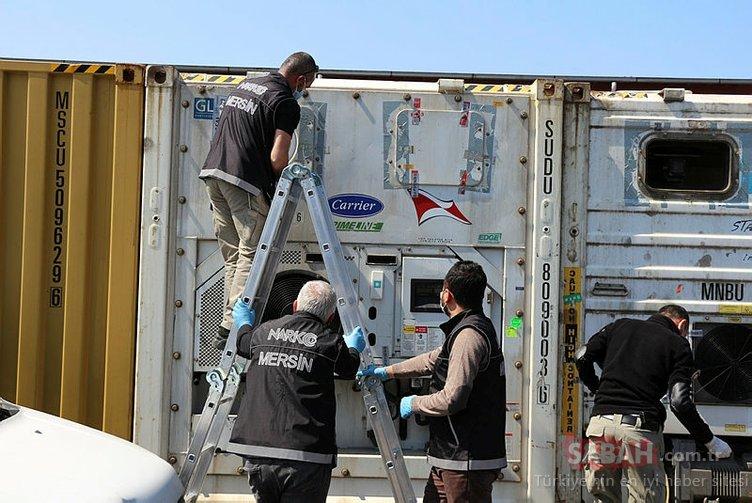 Gemideki muz yüklü konteynerden 34 kilo kokain çıktı