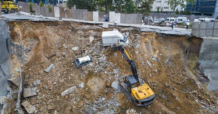 Ümraniye Belediyesi'nden çökme açıklaması