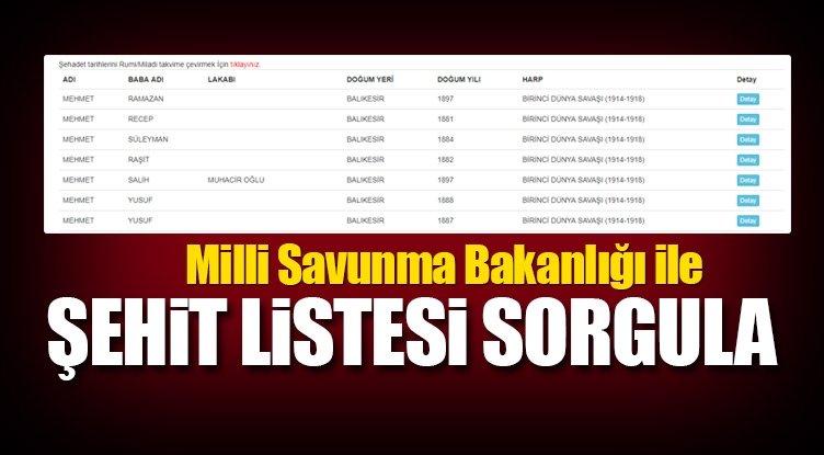 Milli Savunma Bakanlığı ile şehit listesi sorgulama sistemi nasıl açılır?-  MSB ile şehit listesi buradan sorgula!