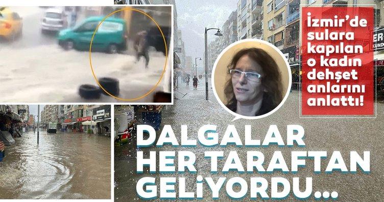 İzmir'de sulara kapılan kadın dehşet anlarını anlattı: Denizin altındayım sandım