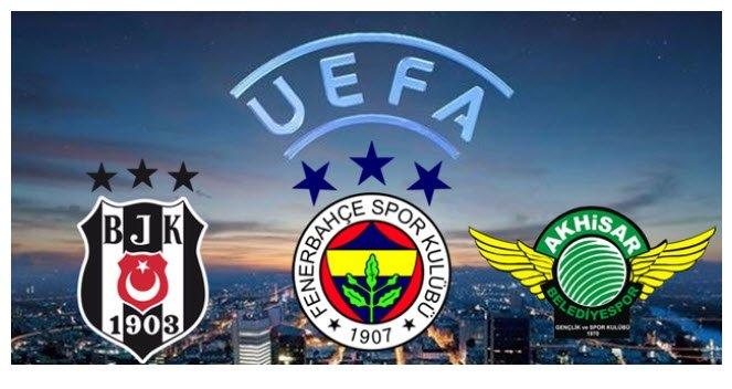 Beşiktaş, Fenerbahçe ve Akhisarspor'un muhtemel rakipleri