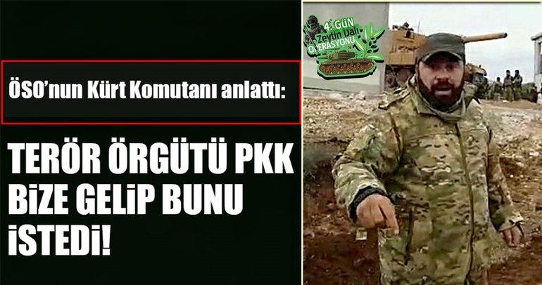 ÖSO'nun Kürt komutanından dikkat çeken Afrin mesajları