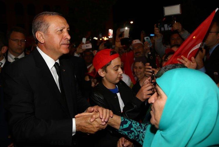 Cumhurbaşkanı Erdoğan, Louisville'de coşkuyla karşılandı