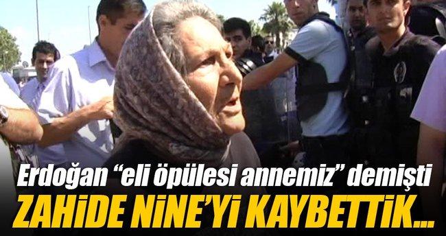 'Gezi' provokatörlerine tepki gösteren Zahide Nine hayatını kaybetti