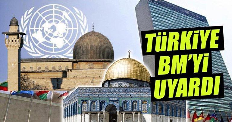 Türkiye, Kudüs konusunda BM'yi uyardı