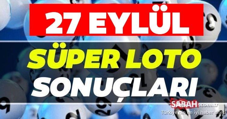 Süper Loto sonuçları canlı çekilişle açıklandı! Milli Piyango İdaresi ile 27 Eylül Süper Loto çekiliş sonuçları MPİ hızlı bilet sorgulama BURADA
