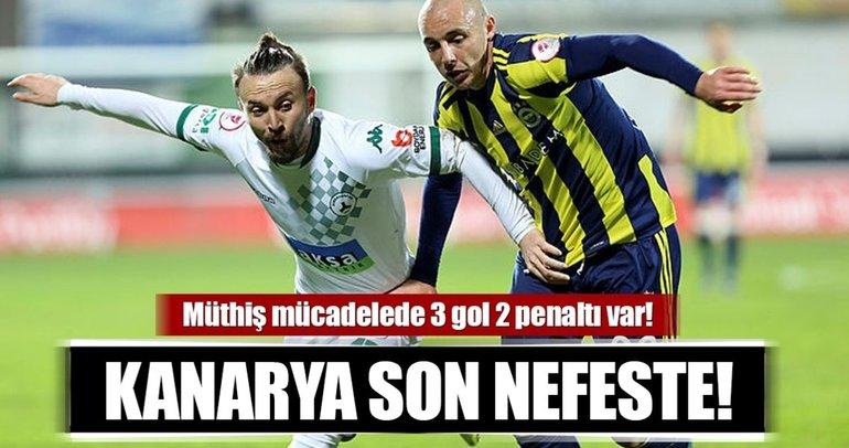 Fenerbahçe son nefeste! Müthiş mücadelede 3 gol 2 penaltı var...
