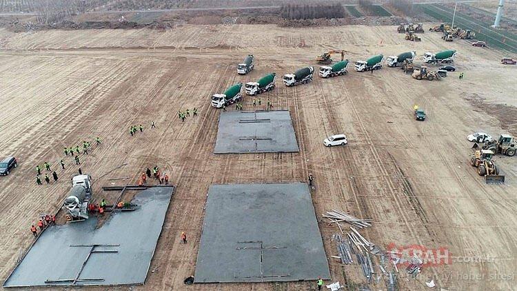 Çin binlerce kişilik karantina merkezleri inşa ediyor