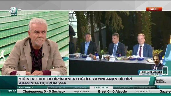 Mehmet Yiğiner: Birçok kulüp bildiriyi okumadı bile