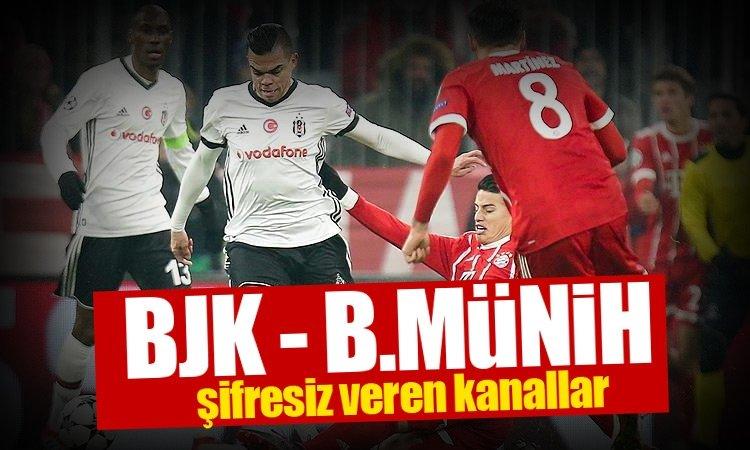 Beşiktaş Bayern Münih maçı şifresiz veren kanallar listesi merak ediliyor! İşte detaylar