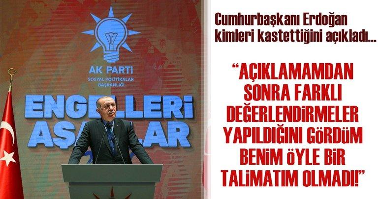 Cumhurbaşkanı Erdoğan 'Engelleri Aşanlar 2017' programında konuştu