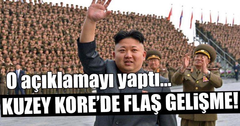 Kuzey Kore'de flaş gelişme!