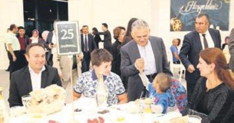 Büyükkılıç belediye çalışanlarına iftar verdi