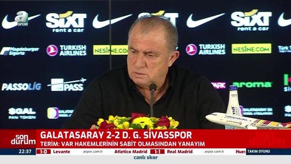 Son dakika Galatasaray haberi: Fatih Terim'den Sivasspor maçının ardından flaş sözler!
