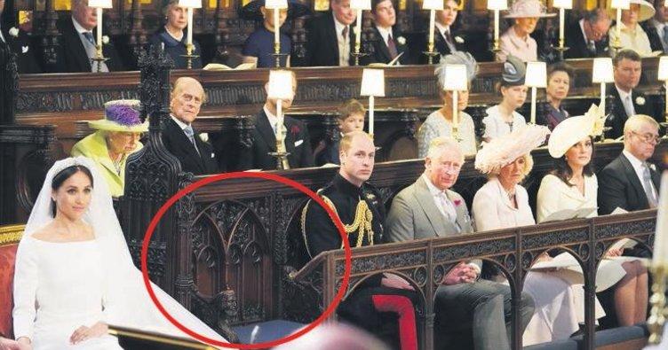 'Kraliçe görsün' diye boş kaldı
